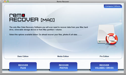 Recover External Hard Drive Mac - Welcome Screen